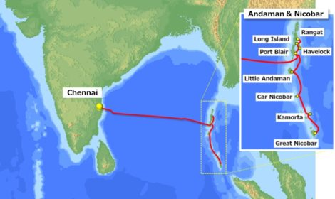 NEC připojí Indii k ostrovům Andaman a Nicobar