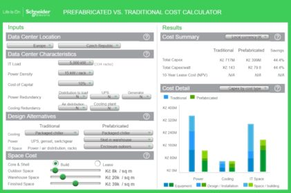 Prefabricated vs Traditional Data Center Cost Calculator