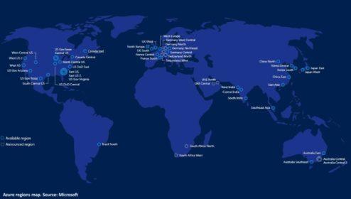 Microsoft spustí Azure regiony v Německu, Švýcarsku a SAE