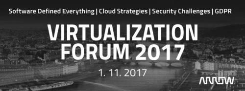 Pozvánka na konferenci Virtualization Forum 2017